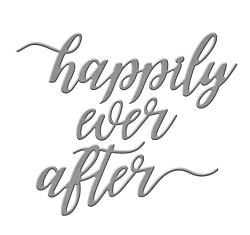 Spellbinders - Die-Lites Happily Ever After Sentiment by Nichol Spohr