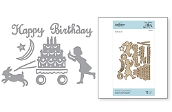 Spellbinders - Sending A Happy Birthday die by Sharyn Sowell