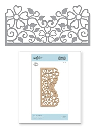 Spellbinders - Top Floral Panel die by Marisa Job
