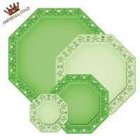 Spellbinders Nestabilities Majestic Elements Dies - Imperial Gold Die Templates - Gold Ivy Octagon