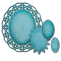 Spellbinders - Nestabilities Die - Decorative Elements Oval Regalia
