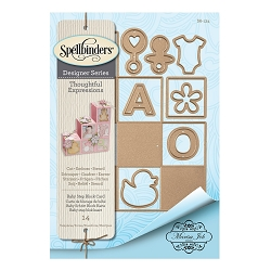Spellbinders - Designer Die - Thoughtful Expressions-Baby Step Block (by Marisa Job)