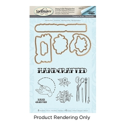 Spellbinders - Stamp & Die Set - Handcrafted Handmade (by Stephanie Low)