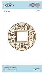 Spellbinders - Chinese Coin Window die by Lene Lok