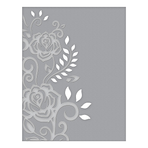 Spellbinders - Cut & Emboss Folders - Rose Flourish