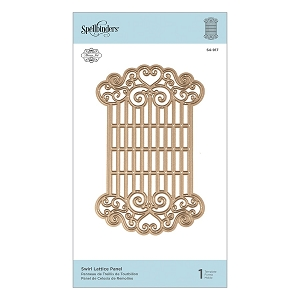 Spellbinders - Designer Die - Swirl Lattice Panel (by Marisa Job)