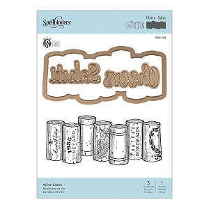Spellbinders - Designer Stamp & Die Set - Wine Corks  (by Stacey Caron Design)