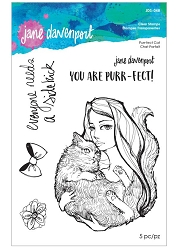 Spellbinders - Jane Davenport Clear Stamp - Purr-fect Cat