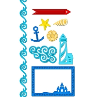 Spellbinders- Nautical Frame and Accents Die