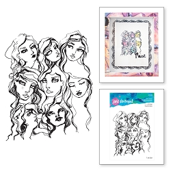 Spellbinders - Jane Davenport Artomology Clear Stamp - Girl Group