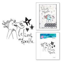 Spellbinders - Jane Davenport Artomology Clear Stamp - Unicorn Sparkle