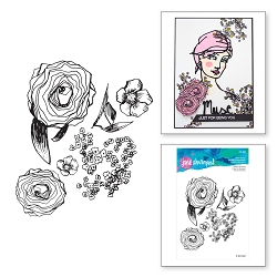 Spellbinders - Jane Davenport Artomology Clear Stamp - Build A Bouquet