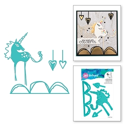 Spellbinders - Jane Davenport Artomology Die - Happy Little Unicorn