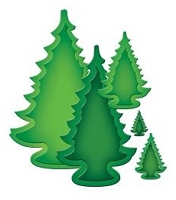 Spellbinders - Nestabilities Dies - 2013 Holiday Trees