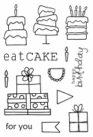 SRM - Clear Stamps - Jane's Doodles Eat Cake