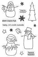 SRM - Clear Stamps - Jane's Doodles Warm Wishes