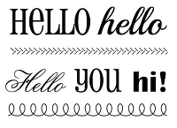 SRM - Clear Stamps - Big Hello