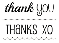 SRM - Clear Stamps - Big Thank You