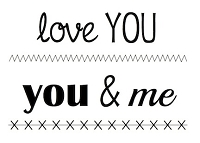 SRM - Clear Stamps - Big Love You