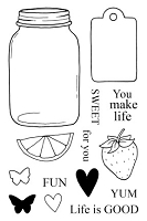 SRM - Clear Stamps - Jane's Doodles Life Is Good