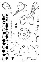 SRM - Clear Stamps - Jane's Doodles Baby Jungle