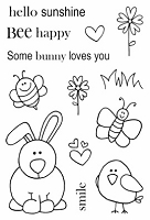 SRM - Clear Stamps - Jane's Doodles Boris Bunny