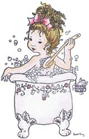 Stampavie - Clear Stamp - by Sarah Kay - Bathtime