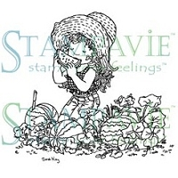 Stampavie - Clear Stamp - Josephine in the Watermelon Patch