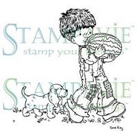 Stampavie - Clear Stamp - Andre carrying watermelon