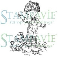Stampavie - Clear Stamp - Jean-Luc Playing ball With Claude