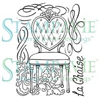 Stampavie - Clear Stamp - Penny Johnson Vintage - La Chaise