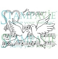 Stampavie - Clear Stamp - Penny Johnson Vintage - Chanson D'amour