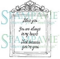 Stampavie - Clear Stamp - Penny Johnson Vintage - Shabby Chic Frame