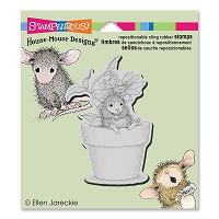 Stampendous - Cling Mounted Rubber Stamp - House Mouse Potted Mouse