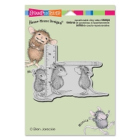 Stampendous - Cling Mounted Rubber Stamp - House Mouse Measuring Up
