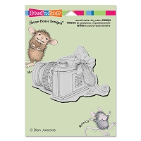 Stampendous - Cling Mounted Rubber Stamp - House Mouse Say Cheese