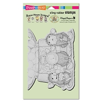 Stampendous - Cling Mounted Rubber Stamp - House Mouse Gumball Gathering