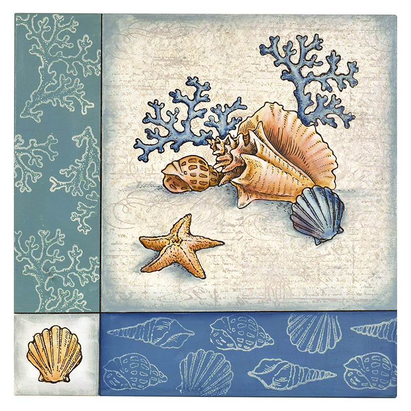 Stampendous Cling Mounted Rubber Stamps Seashells Cling Rubber Stamp Set