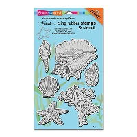 Stampendous Cling Mounted Rubber Stamps - Seashells Cling Rubber Stamp Set