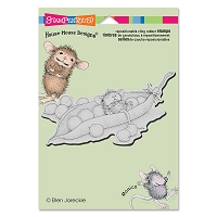 Stampendous Cling Mounted Rubber Stamps - House Mouse Designs - Pea Pod Nap