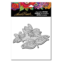 Stampendous - Laurel Burch - Cling Rubber Stamp Flutterbye Trio