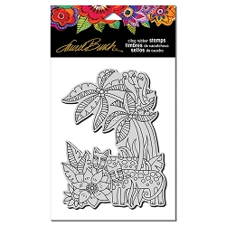Stampendous - Laurel Burch - Cling Rubber Stamp Leopard Jungle