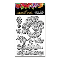 Stampendous - Laurel Burch Cling Mermaid Fish Stamp Set