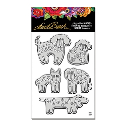 Stampendous - Laurel Burch Cling Dog Park Stamp Set