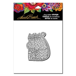 Stampendous - Laurel Burch - Cling Rubber Stamp Zigzag Cats
