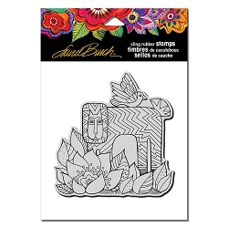 Stampendous - Laurel Burch - Cling Rubber Stamp Lion With Bird