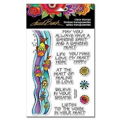Stampendous - Laurel Burch - Fish Wishes Perfectly Clear Stamps