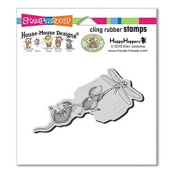 Stampendous Cling Mounted Rubber Stamps - House Mouse Designs - Dragonfly Ride