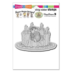 Stampendous Cling Mounted Rubber Stamps - House Mouse Designs - Icing Roses