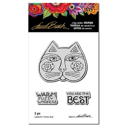 Stampendous - Laurel Burch - Feline Best Cling Rubber Stamp Set